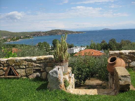 Yialasi: View from garden terrace