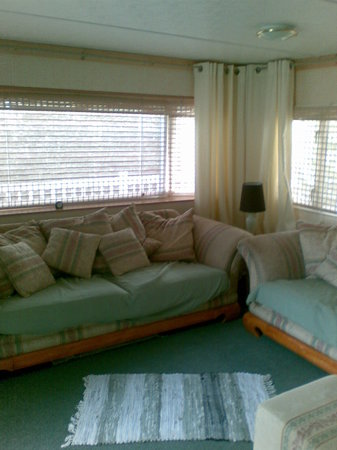 Milford on Sea, UK: The living room of the van