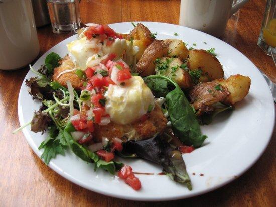Nob Hill Grille Restaurant : Crab Cake Eggs Benedict. Beautifully balanced.