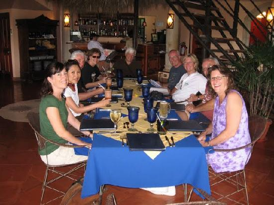 Cuna Del Angel: our group at the restaurant