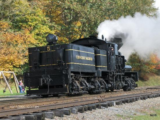 Cass, WV: One of the Shay Engines that will push up the mountain