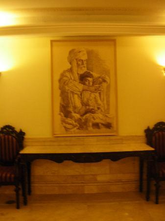Bhurban, Pakistan: artwork in the halls