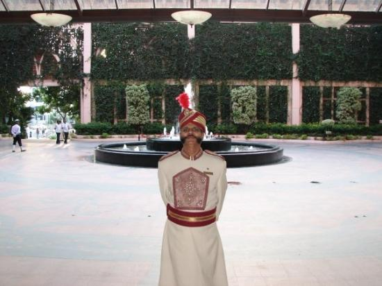 The Leela Palace Bengaluru: Doorman at the hotel