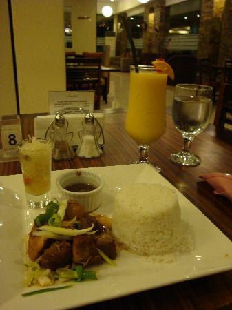 O Hotel: chicken & pork adobo.. Philippine dish