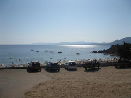 Pefkos Beach. Not a cloud in the sky.