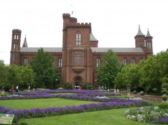 Washington D.C., Distrito de Columbia: Back of the Smithsonian castle