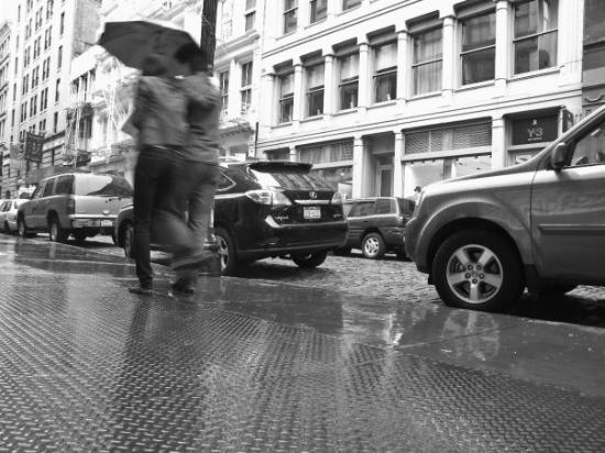 Rain Greene Street, Soho.