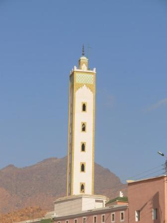 Tafraoute, Maroc : un minaret