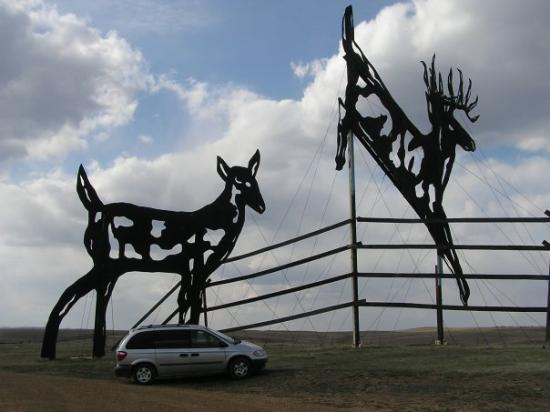 "The Enchanted Highway ""Deer Crossing"" Regent, ND"
