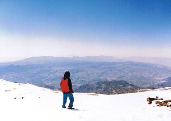 Sierra Nevada National Park, Spain: En la cima!!! yo!!!