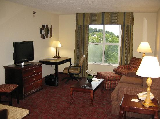 Hampton Inn & Suites Pigeon Forge On The Parkway: The Living Room in my suite