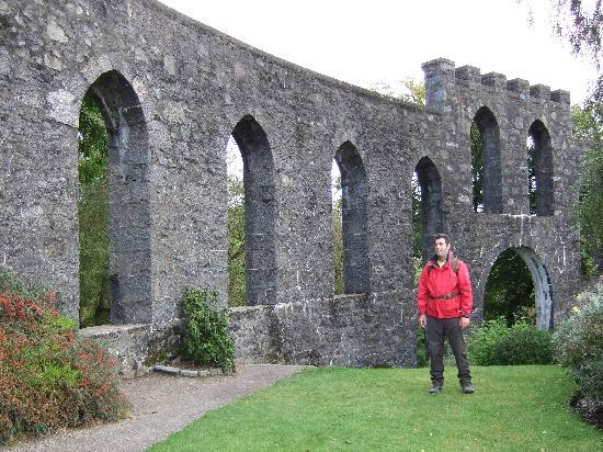 """McCaig's Tower: Phil,inside McCaig""""s Tower,Oban,Scotland."""