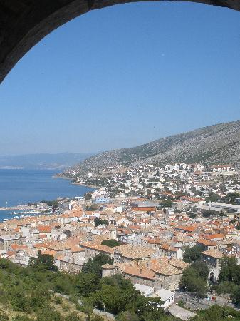 Nehaj Castle: View of Senj from the castle