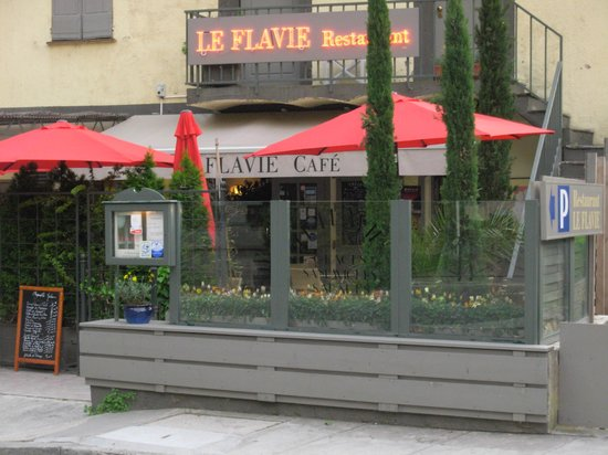 Le Flavie: l'entrée du Flavie