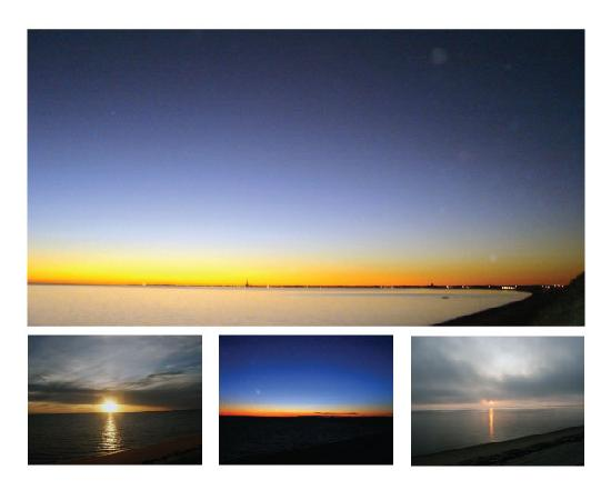 Lis Sur Mer: These sunsets were all taken from the same place, the landing overlooking Cape Cod Bay just feet