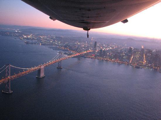 Airship Ventures, Inc.: Bay Bridge and Downtown San Francisco