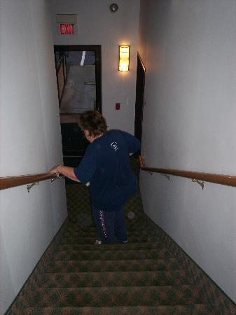 Super 8 Stroudsburg: nice stairs for the handicapped