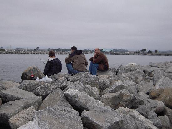 fishing off the rocks picture of moss landing