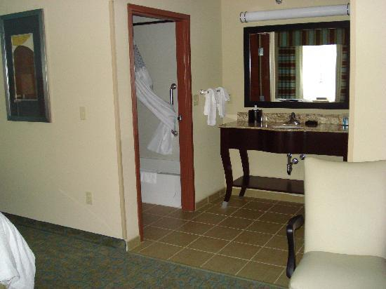 Hampton Inn & Suites Crawfordsville: bathroom view