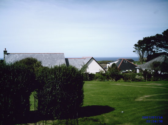 Bossiney House Hotel: the view from our room