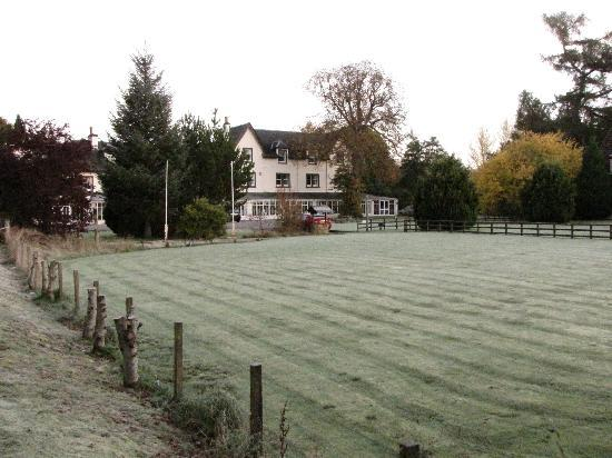 early mornig frost, Garve Country Hotel