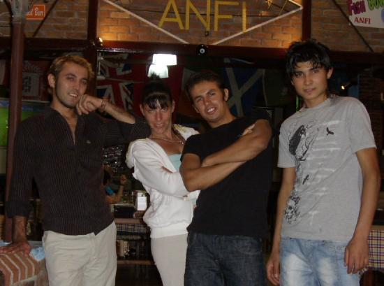 Anfi Bar Restaurant: staff of anfi bar