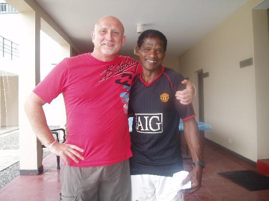 Pegasus Reef Hotel: Basil and I on my Last Day