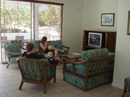 Coral Apartments: Living area.