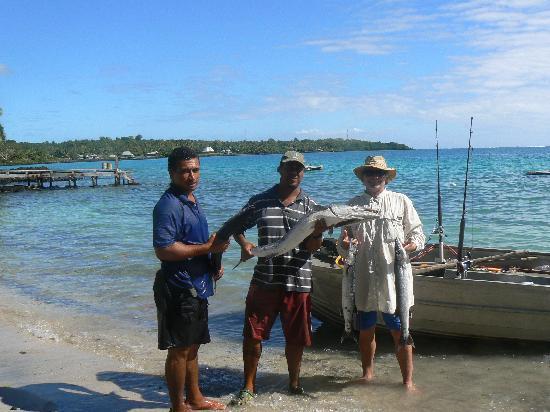 Va-i-Moana Seaside Lodge: Fishing at last