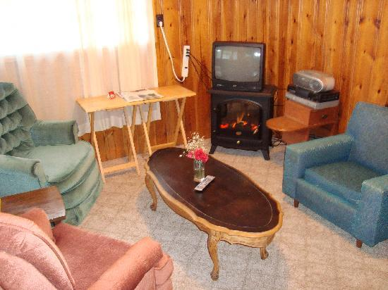 Riverside Motel Dwight: cottage living room