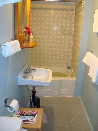 Riverside Motel Dwight: cottage bathroom