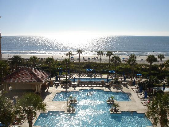 Marriott's OceanWatch Villas at Grande Dunes: Our view from the 4th floor center building