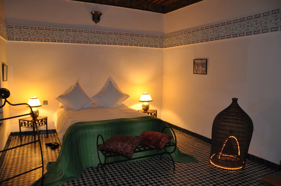 Riad Laaroussa Hotel and Spa: Our room