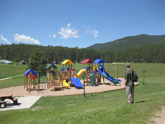 Rafter J Bar Ranch Campground : playground at the Rafter J Bar