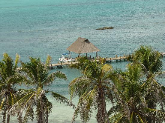 Isla Contoy, Meksyk: View of eastern half of beach from observation tower
