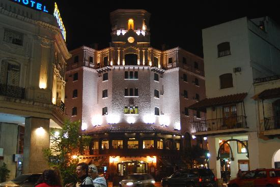 Hotel Salta: View from the central plaza at night