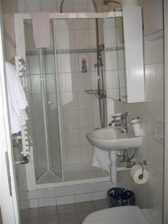 Hotel-Restaurant de la Rouvenaz: Rm. 201-B, bath