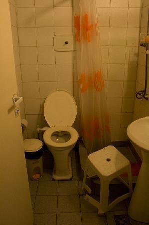 La Casa Fitz Roy: El baño  - no sé si se aprecia lo sucio que estaba