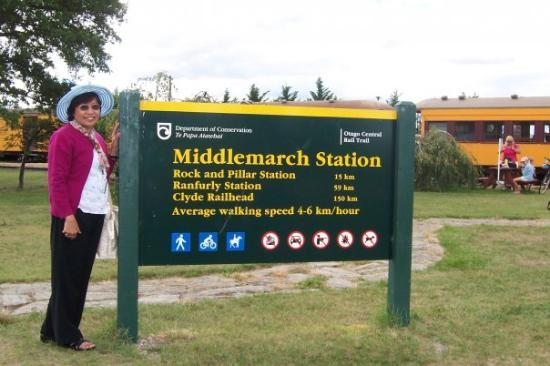 Otago Peninsula: Still in Day 6 - In Middlemarch, the last leg of our Taieri Gorge train journey in the Otago Pen