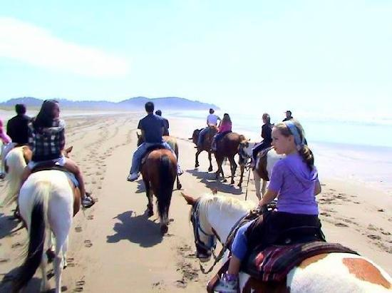 Long Beach, WA: Horseback riding on the beach
