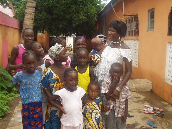 Gambia: My wife Awa with children at our wedding party