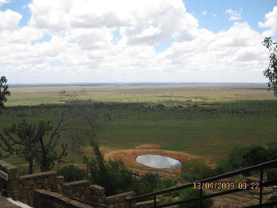 Sun n' Sand Beach: A view of tsavo east national park fron nugalia lodge , which franklin hope safaris took us on.