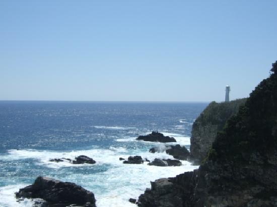Tosashimizu, ญี่ปุ่น: 足摺岬と灯台と水平線