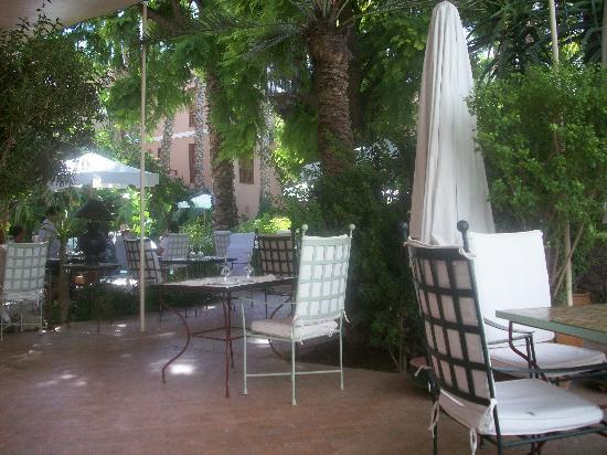 Les Jardins de la Medina : Terrasse resto