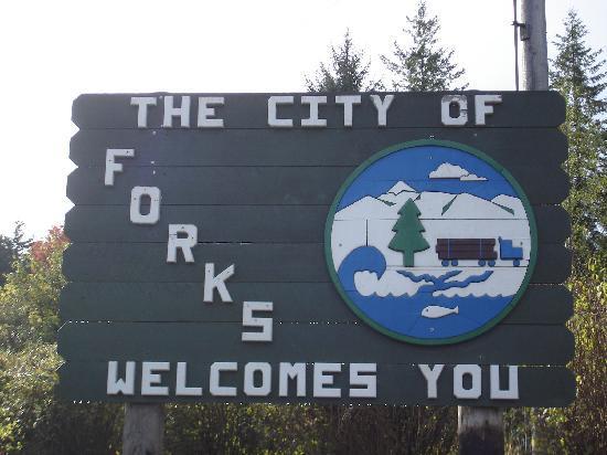 Forks, WA: entrée de la ville