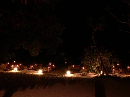 Gazi, Kenia: Dinner at he beach