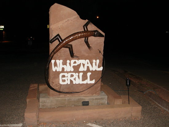 Whiptail Grill: Cute Sign
