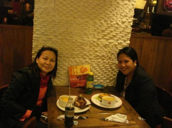 Dinner w/ Ms. J at Nando's in Melbourne