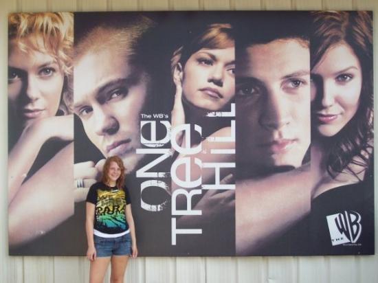 Screen Gems Studio: Dayna With The Cast Poster At The Studio Before The Tour Of The Studio