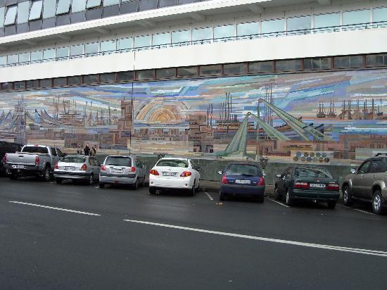 Musée d'art de Reykjavík : Mosaic or Port Reflection?  Mosaic